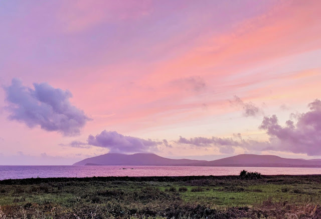 Sunset over Waterville Ireland in County Kerry