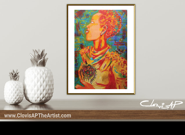 WARRIOR WOMAN ART PRINT - CLOVIS AP