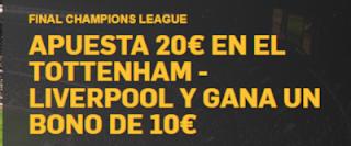 betfair apuesta 20 consigue 10 Final Champions 1 junio