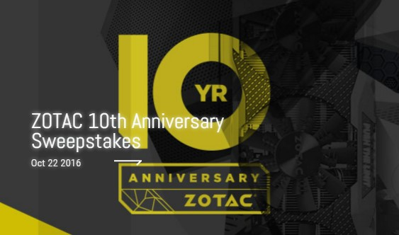 SCORE SWEET TECH LOOT WITH ZOTAC AND UNLOCKED! Join them as they stream CS:GO and give away killer prizes to celebrate ZOTAC's 10th Anniversary!
