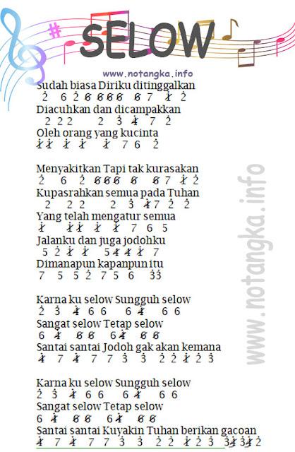 Not Angka Selow by Wahyu - Seruling Pianika