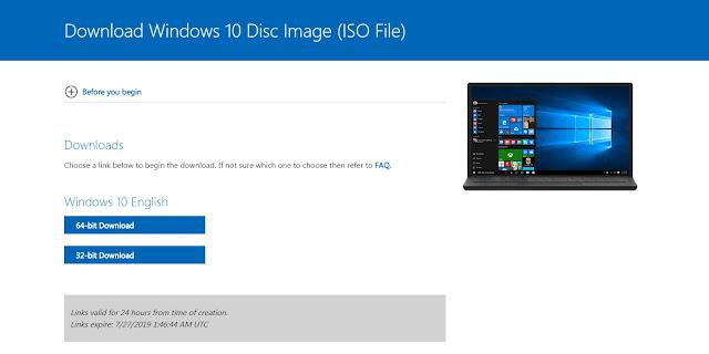 Tải bản windows 10 mới nhất từ Microsoft