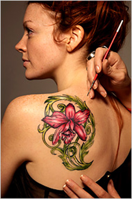 cool flower custom temporary tattoo ideas