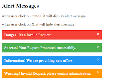 Error, Success, Warning, and Info Messages with CSS