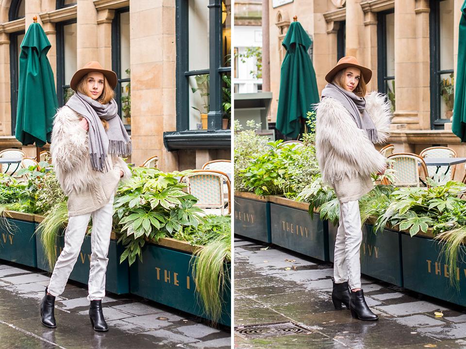 Fashion blogger autumn outfit inspiration + tan coloured wool hat - Muotibloggaaja, syysmuoti, asuinspiraatio, konjakinvärinen huopahattu