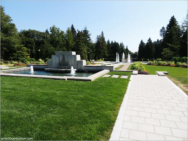 Fuentes de Estilo Art Decó del Jardín Botánico de Montreal