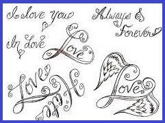 Couple Love Tattoo Design