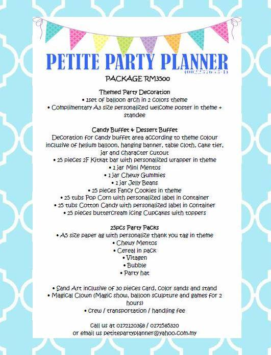 Petite d Party Planner Ipoh Kuala Lumpur Malaysia