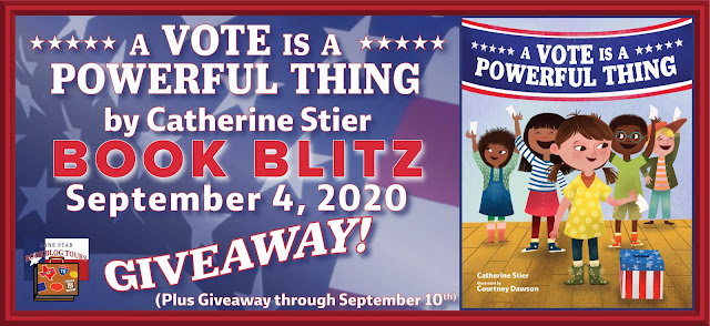A Vote is a Powerful Thing book blog tour promotion banner