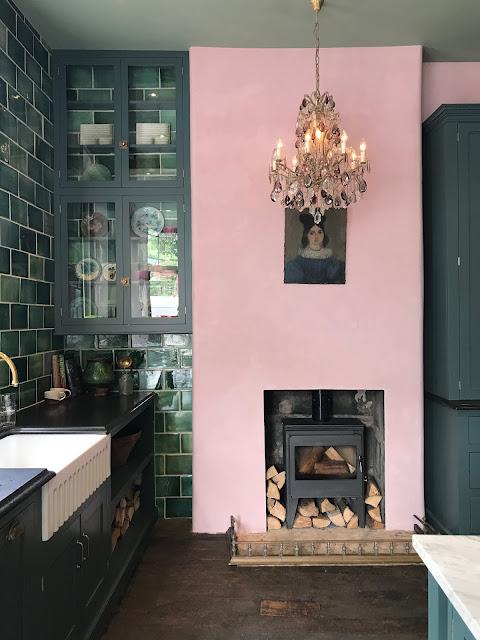 deVol Kitchen, kitchen design, colour combination, green and pink, interiors blogger