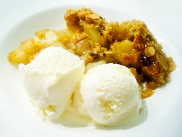 Scottish Pear and Ginger Crumble