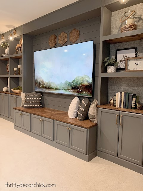 DIY bookcases in Westchester Gray