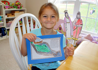 Tessa created Mesopotamian puppets on craft sticks. She also completed an interactive map with model trading ship. By moving the craft stick attached to the back of the ship, she can sail it down the Tigris River to the Persian Gulf.