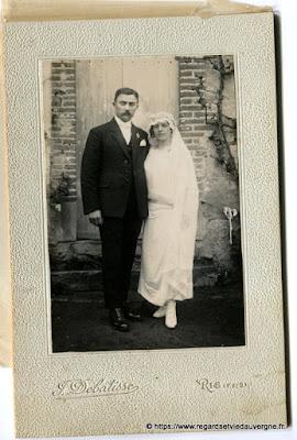 Photo de mariage noir et blanc, F. Debatisses Ris PdD
