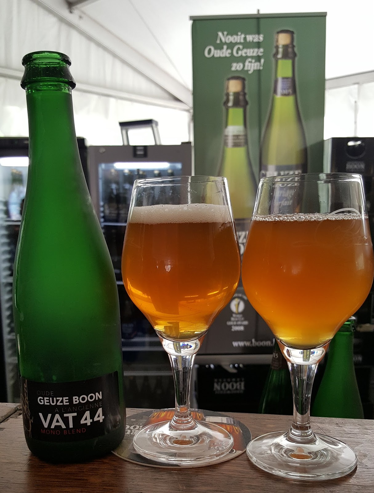 The Beer Nut Geuze Bus Tours Boon Squirt Green Kiwi Early In Proceedings As Smaller One At Other End Was Dishing Out Specials And Rarities Some From Frank Boons Personal Stash Apparently