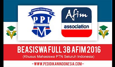 Beasiswa 3B AFIM 2016 (Full Gratis)