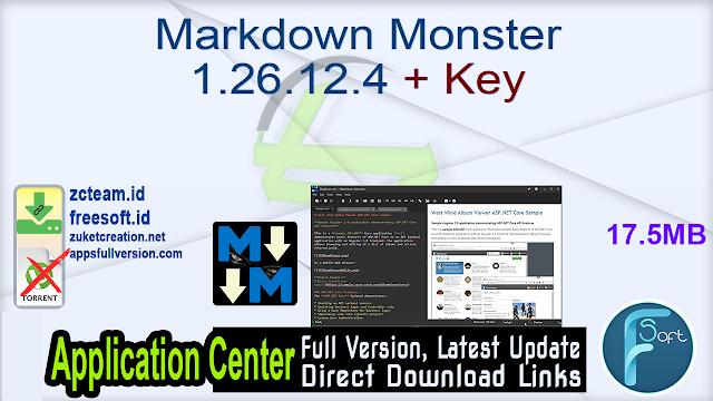 Markdown Monster 1.26.12.4 + Key_ ZcTeam.id