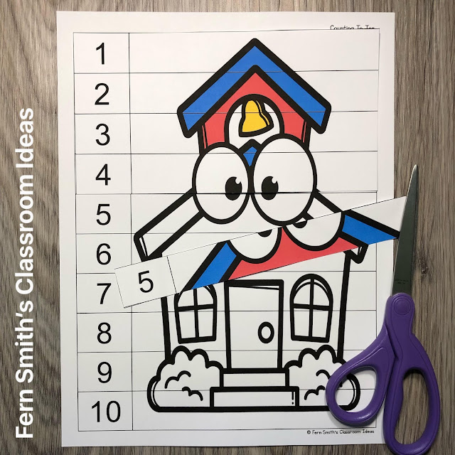 Click Here to Download This Back to School Counting Puzzles Resource for Your Classroom Students Today!