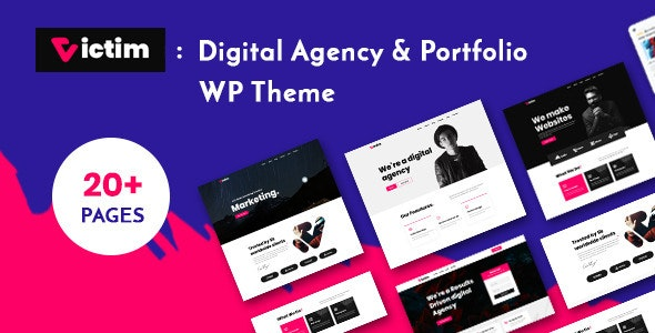 Digital Agency & Portfolio WordPress Theme