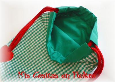 bolsa de merienda, bolsa de merienda caperucita, bolsa caperucita, bolsa, merienda, mochila, patchwork, fieltro, aplique, caperucita, lobo, little red riding hood, bag, foodbag