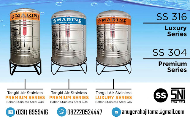Tangki Air Stainless Steel Marine (Premium)