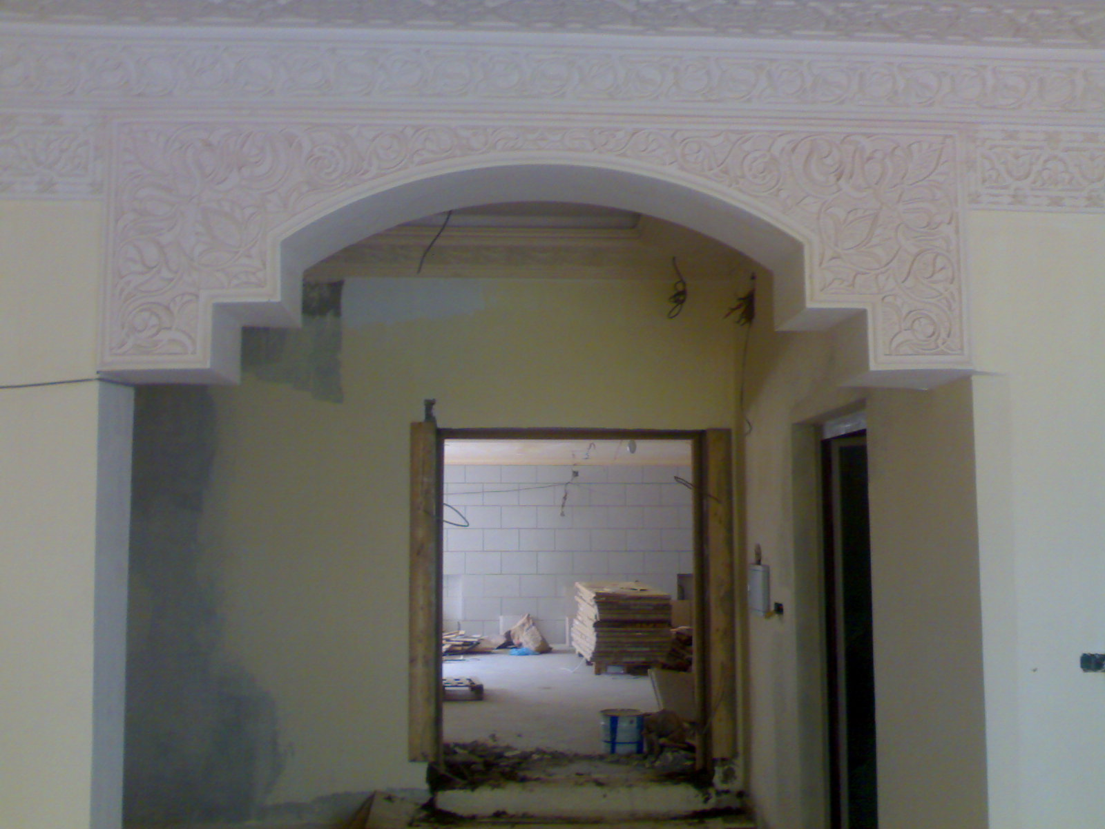 Faux plafond platre for Decoration de platre 2014