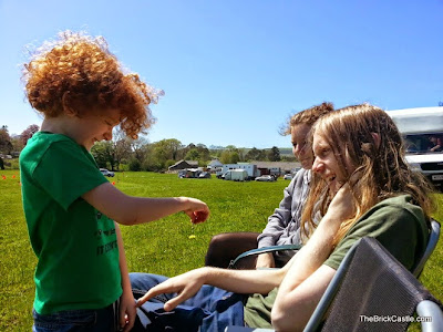 Playing With Shetland Ponies at the Bank Holiday weekend.
