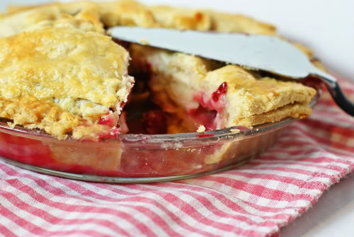 the BEST cranberry apple pie