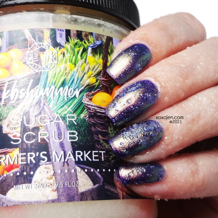 xoxoJen's swatch of KBShimmer Farmer's Market sugar scrub