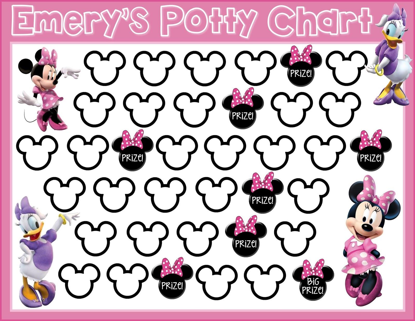 princess potty training chart