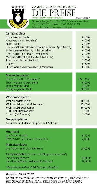 Eulenburg Preisliste 2017
