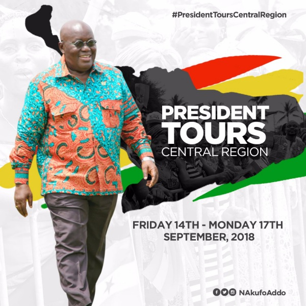 President Akufo-Addo Embarks On 4-Day Tour Of Central Region