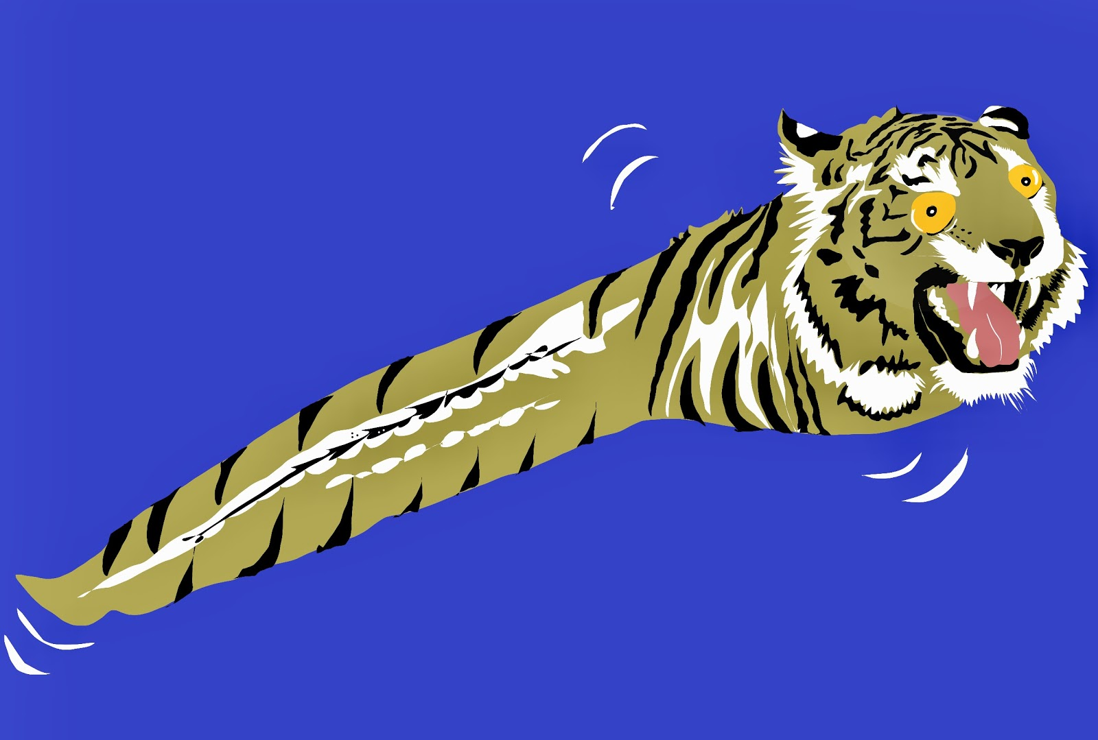 Picture of a tadpole and tiger mashup.