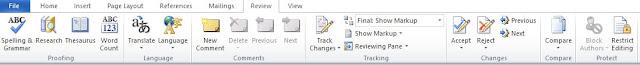 Mengenal Fungsi Menu Review Pada Microsoft Word