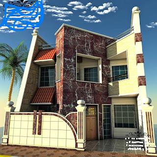 : واجهات منازل عراقية 7 متر : منازل
