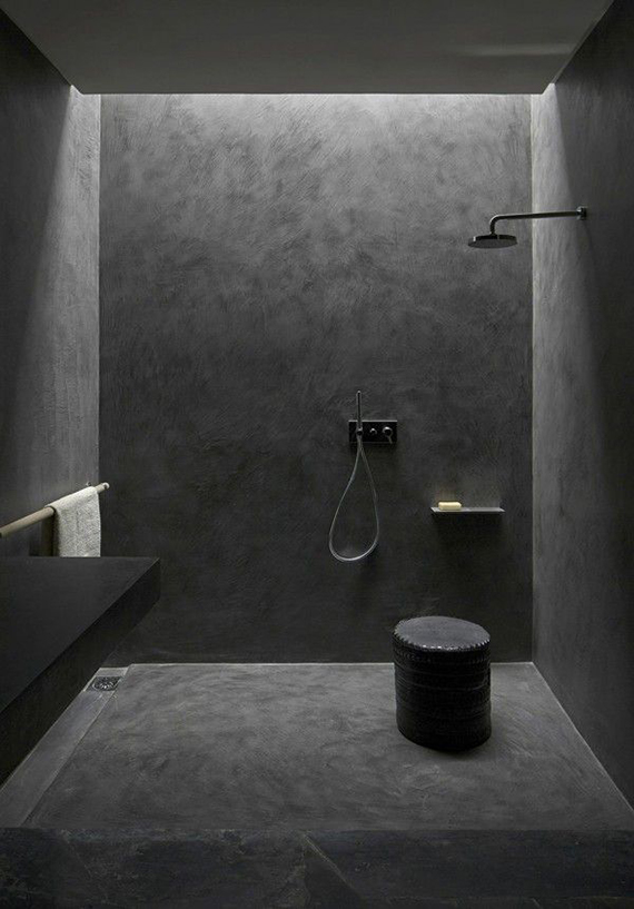All black bathroom | Villa E in Morocco by Studio Ko
