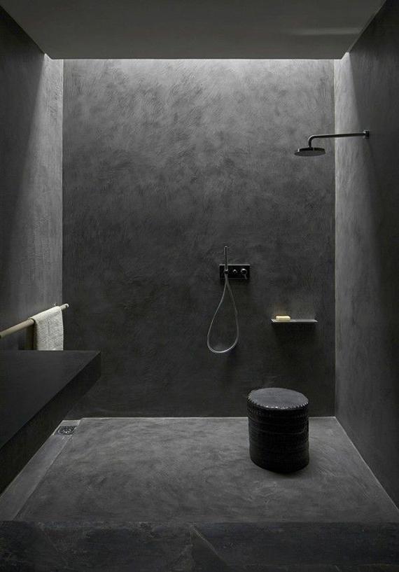 2 Alike All Black Bathrooms My Paradissi