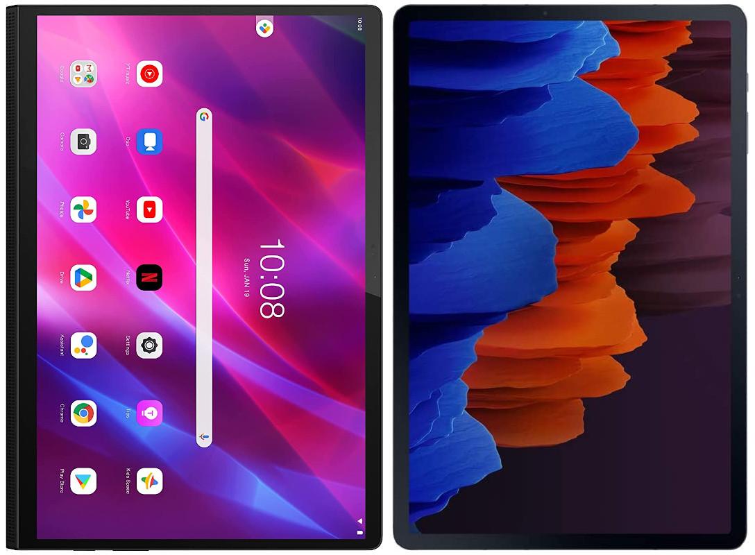 Lenovo Yoga Tab 13 vs Samsung Galaxy Tab S7+