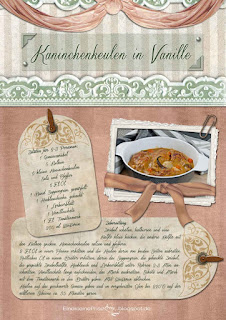 Scrapbooking Rezept Kaninchen in Vanille