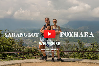 Traveling in Sarangkot, Pokhara, Nepal. World traveling and trekking. Arkadij und Katja aus Bremerhaven auf WELTREISE