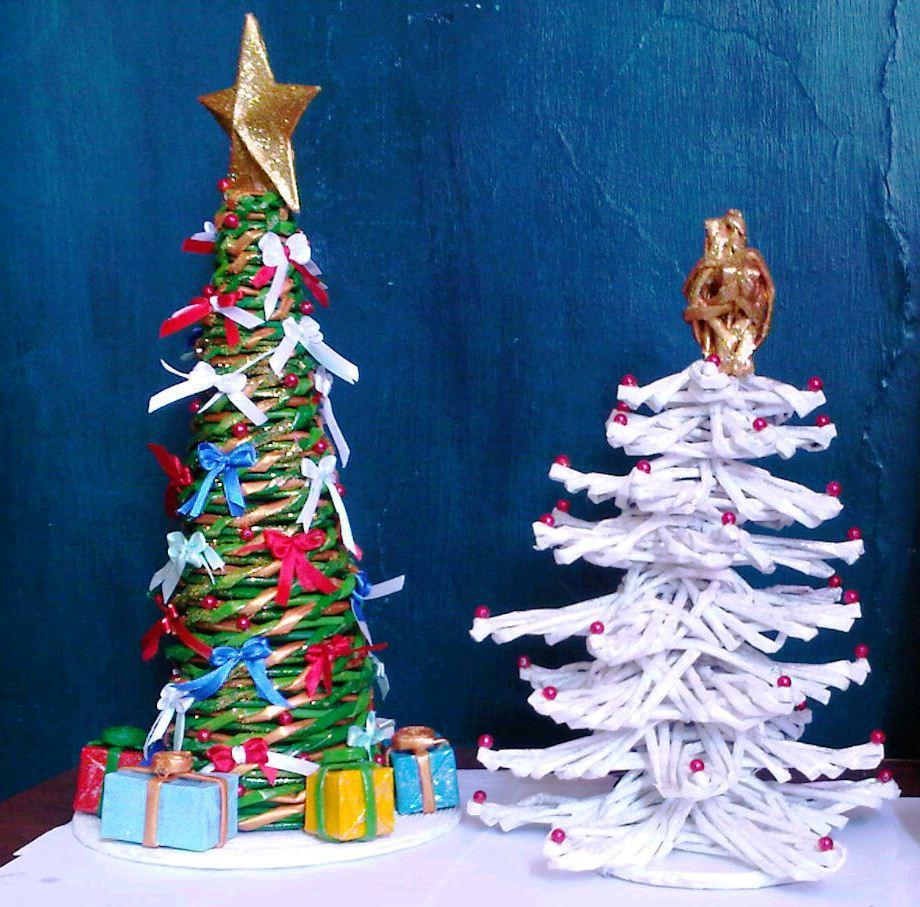 a base de papel peridico el resultado es y nadie creer que t lo hiciste por su lindo acabado podras obsequiar este rbol de navidad