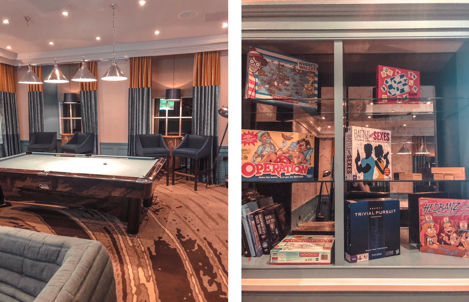 Seaham Hall Hotel - Games Room (pool table)