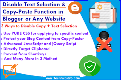 How to Disable Text Selection & Copy-Paste Function in Blogger-min