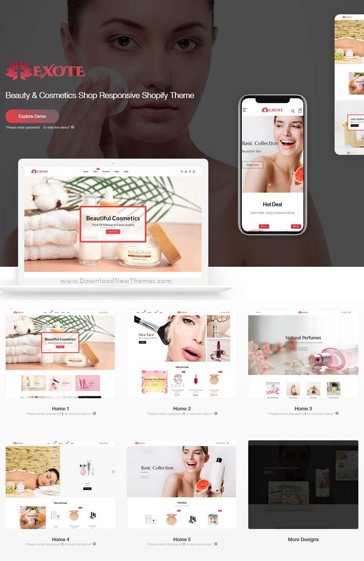 Beauty & Cosmetics Shop Responsive Shopify Theme