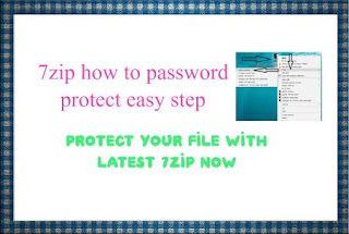 7zip how to password protect