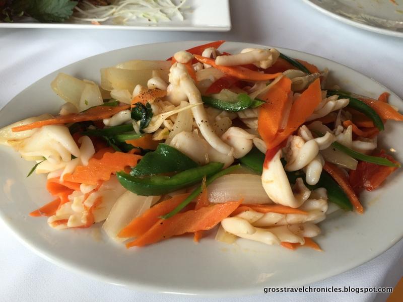stir-fried squid and celery