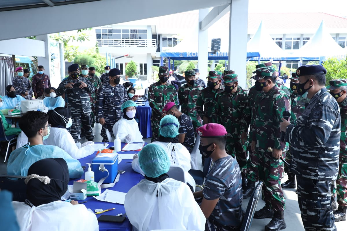 130.000 Prajurit TNI Jalani Vaksinasi Covid-19 AstraZeneca di 10 Provinsi