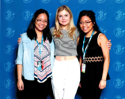 Meeting Rose McIver at Comicon Andrea Tiffany aglimpseofglam