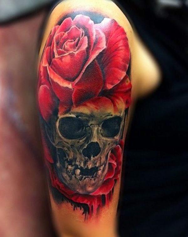 tatuajes de calaveras en la piel de mujeres