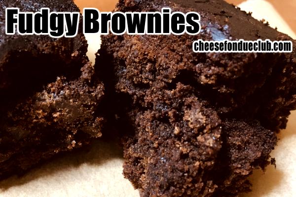 ファッジー・ブラウニーのレシピFudgy Brownies